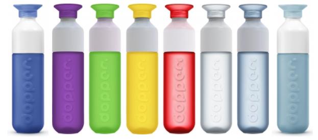 Dopper waterfles in verschillende kleuren