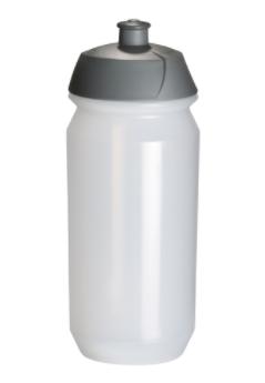Bidon met sportdop in kleur wit